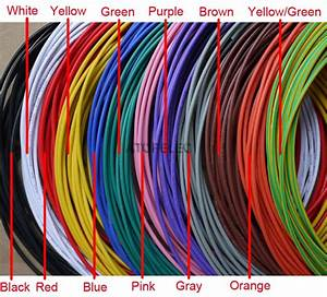 20awg Od 2 6mm Ul1015 Pvc Tinned Copper Stranded Wire Cable Cord 600v Black  Brown  Red  Orange