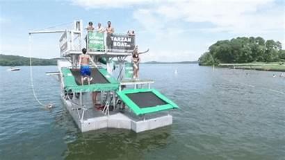 Boat Floating Dock Pontoon Slide Lake Water