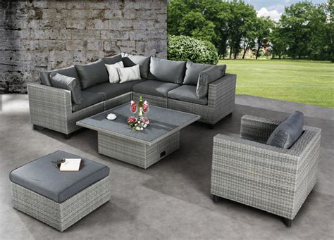 best lounge set bonaire 6 teilig warm grey