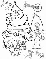 Trolls Coloring Barb Gira Youloveit Bard sketch template