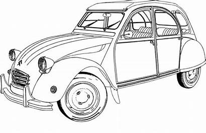 Coloring Classic Cars Drawing Citroen Pages Pixabay