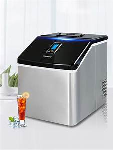 Ice Maker 25kg Commercial Small Tea Shop Manual Household Bar Table Bar Square Ice Cube