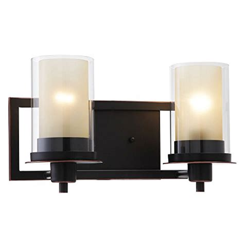 Surplus Bathroom Fixtures by Designers Impressions Juno Rubbed Bronze 2 Light Wall