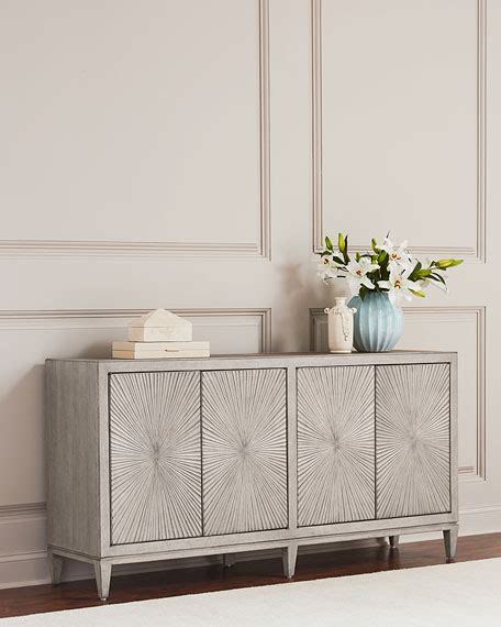 hooker furniture starburst pattern console