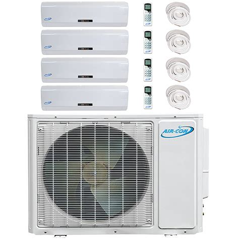 aircon quad zone 4x9000 btu 16 seer mini split heat pump