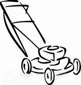 Mower Lawn Drawing Clipart Draw Coloring Template Sketch Credit Larger Herunterladen Bild Graphics Kuenstler Aehnliche sketch template