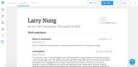 Cv Builder by Visualcv Cv Builder And Professional Resume Cv