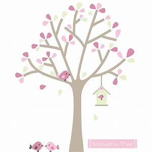 Wall decal beautiful pink and green wall decals pink and for Beautiful pink and green wall decals
