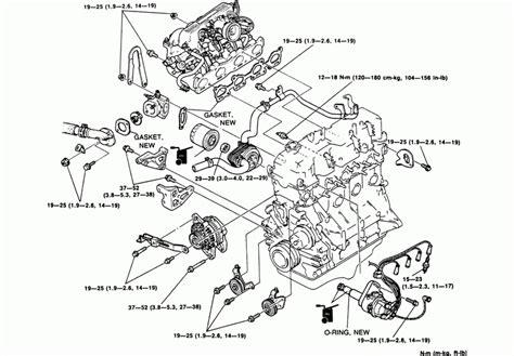 2004 Mazda 6 Engine Diagram by 2001 Mazda Mpv Engine Diagram Automotive Parts Diagram