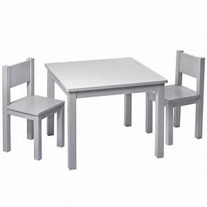 Table Enfant Bois : table enfant bois massif gris chambre activites montessori ~ Teatrodelosmanantiales.com Idées de Décoration