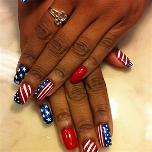 red white and blue nail art designs -WEHOTFLASH