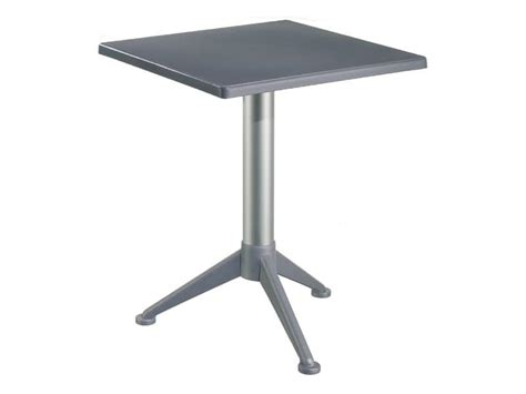 table 60x60 cuisine bar table with square polypropylene top idfdesign