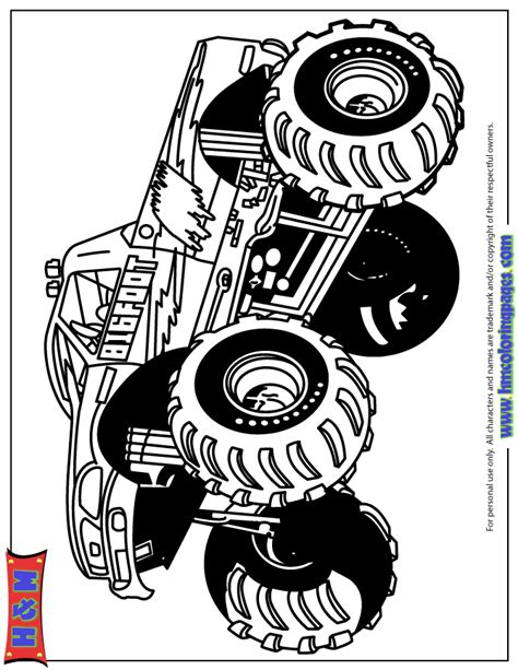 monster truck coloring pages  kids coloring home