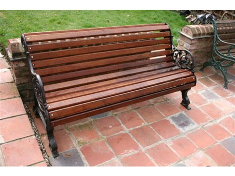 cast iron bench ends and benches