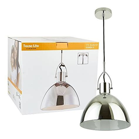 lampara de techo colgante moderna comedor cocina cromo