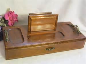 mens wood dresser box jewelry box valet by estatefinds4u2