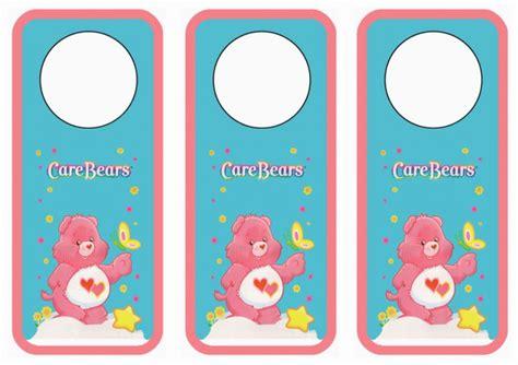 care bears door hangers birthday printable