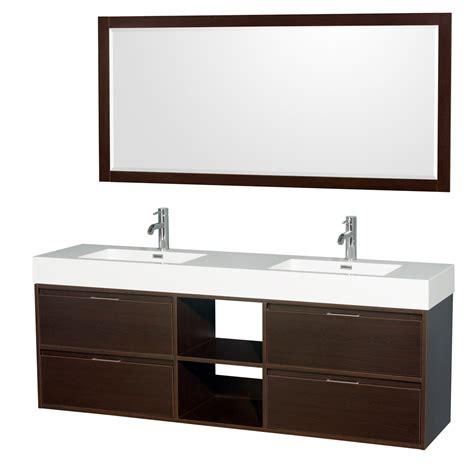 daniella  wall mounted double bathroom vanity set