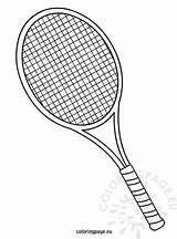 Tennis Racket Coloring Sketch Pages Drawing Coloringpage Eu Sports Badminton Table Sheets Drawings Rackets Party Printable Serve Print Football Cake sketch template