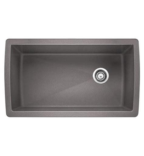 blanco silgranit single bowl sink in metallic gray blanco 441770 33 1 2 quot single bowl undermount