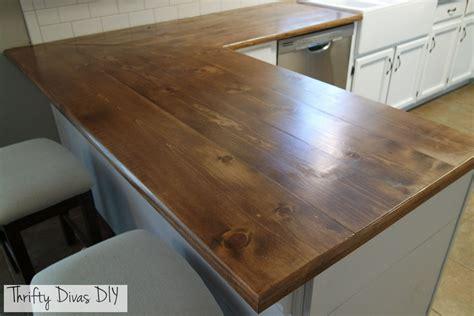 thrifty divas diy wide plank butcher block countertops