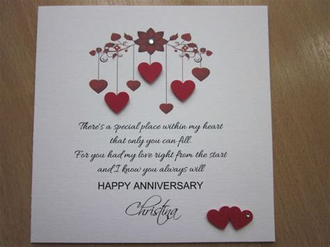 Personalised Handmade Anniversary, Engagement, Wedding Day