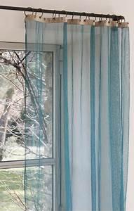 Rideau Voilage Bleu Canard : voilage fenetre bleu ~ Teatrodelosmanantiales.com Idées de Décoration