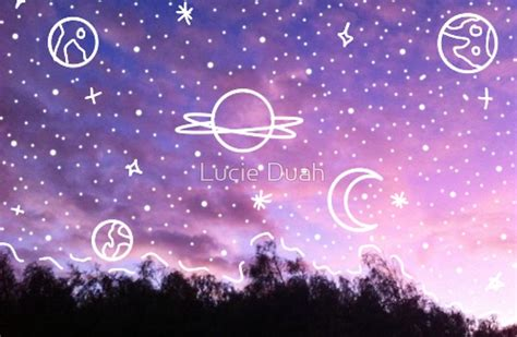 aesthetic tumblr sunset galaxy doodle laptop skins