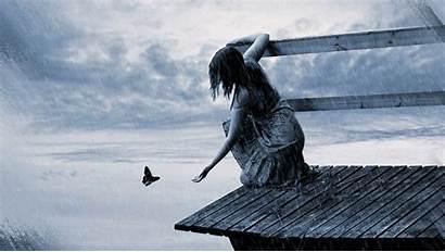 Rain Sad Woman Lonely Wallpapers Feeling Alone