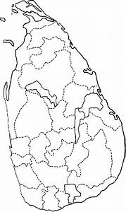 Map Of Sri Lanka Showing The District Boundaries  Dotted