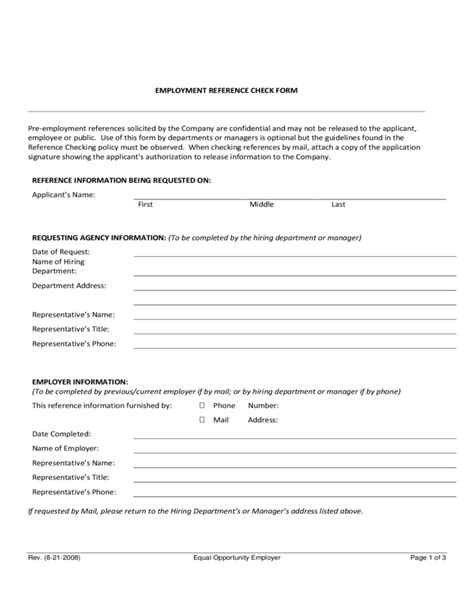 Employment Reference Check Form Template by Noncomplete Employee Reference Check Form Free