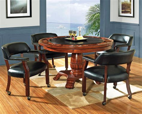 Round Game Table Set