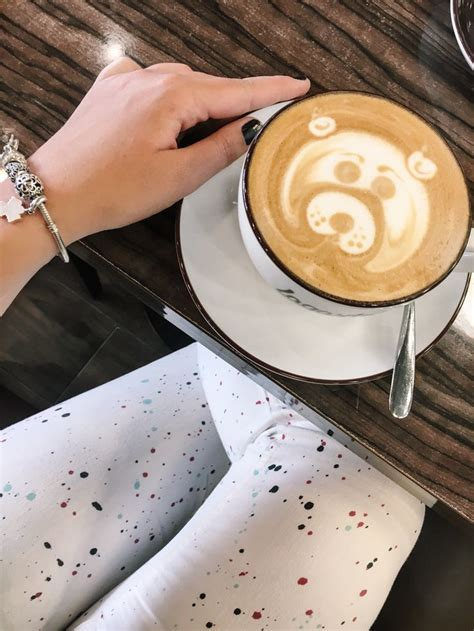 • printed using standard inks on 100lb, cover weight premium paper stock. Coffee bear ️, latte art.
