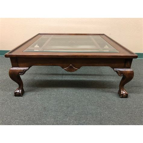 Alibaba.com is a true source of the. Square Wood & Glass Insert Coffee Table | Chairish