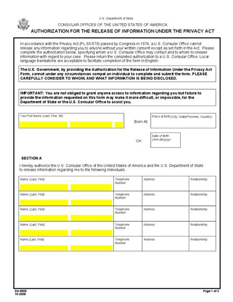 Privacy Release Form Template by Authorization For The Release Of Information Privacy