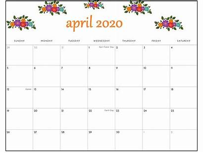 Calendar April Printable Monthly Excel Template Pdf