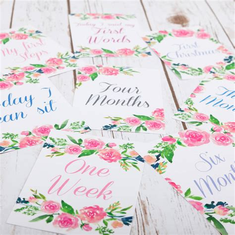 Simply take a photo of. Floral Cards For Baby Milestone Events By Betty Bramble   notonthehighstreet.com