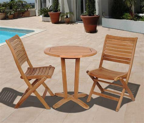 amazonia cabana  piece  teak wood patio bistro set