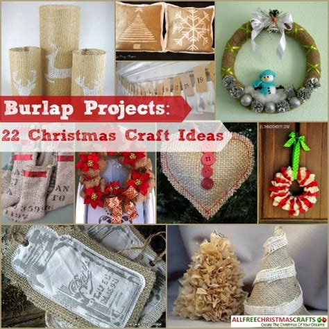 25 Burlap Projects Christmas Craft Ideas You Can't Miss