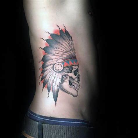 indian skull tattoo designs  men cool ink ideas