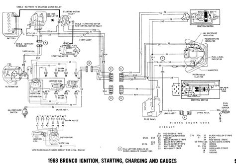 Ford Bronco Wiring by 1968 Bronco Wiring Diagrams Ford Truck Fanatics