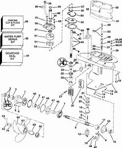 Johnson Gearcase Parts For 2003 25hp J25elsta Outboard Motor