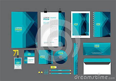 blue corporate identity template   business stock