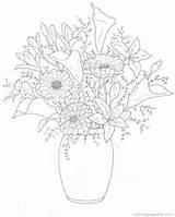 Coloring Bouquets Pages Fun Flower Boeketten Bouquet Kleurplaten Printable Kleurplaat Van Popular Tekening Drawing Coloringhome Afkomstig sketch template