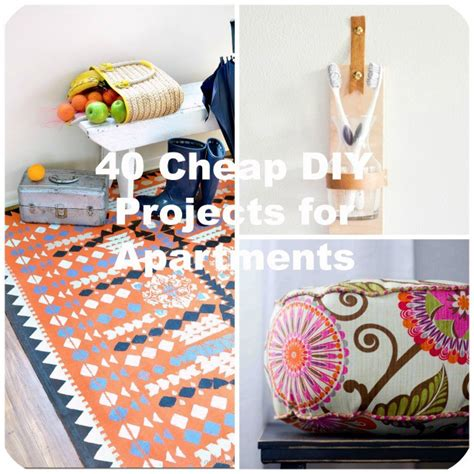 40 cheap diy projects for small apartments