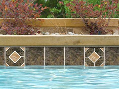 national pool tile aztec series 6x6 deco ash nero az8 deco
