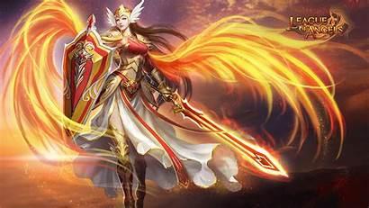 Angels League Angel Warrior Games Desktop Fantasy