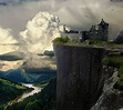 """Ruins of Castle """"Karlsburg - The ruins of the castle Сliff ..."""