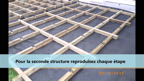 montage d une structure pour terrasse en bois ou composite