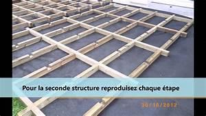 Support Terrasse Bois : montage d 39 une structure pour terrasse en bois ou composite ~ Premium-room.com Idées de Décoration